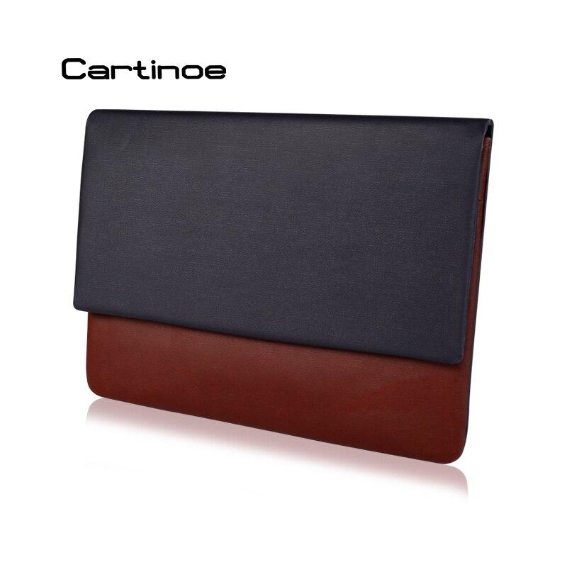 """Prix pour Cartinoe Portable Slim manches Ordinateur Portable Sac En Cuir de Couverture de cas pour MacBook Air Pro Retina 12 """"13"""" POUR Surface 3/4/Ipad 12.9 Pouces"""