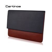 Slim Protective Sleeve Bag Leather Notebook Pouch Case Cover For MacBook 12 13 Air Pro Retina