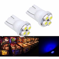 PA LED 30 STKS x T10 #555 4SMD Auto Lamp Dashboard Licht voor Flipperkast 3528 6.3 V wit/Rood/Groen/Blauw/Geel/Paars/Roze