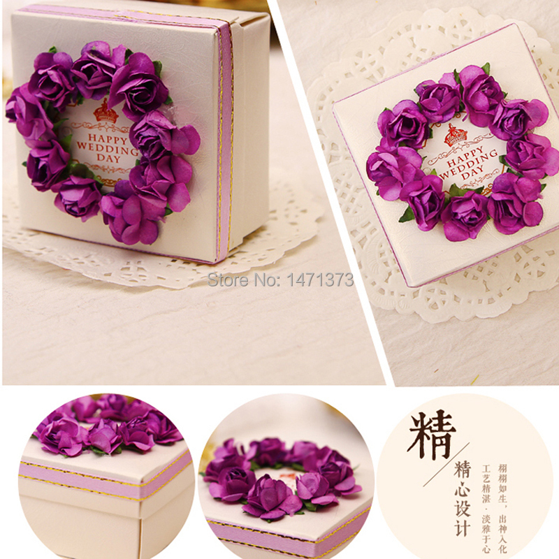 2015 Real Event Supplies New Handmade Paper Wedding Gift Box Candy 4 ...