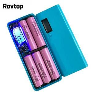 Image 2 - Rovtop ホット販売 5 5v デュアル usb 5 × 18650 パワーバンクバッテリーボックス携帯電話充電器 diy シェルケース iphone6 プラス S6 ため xiaomi