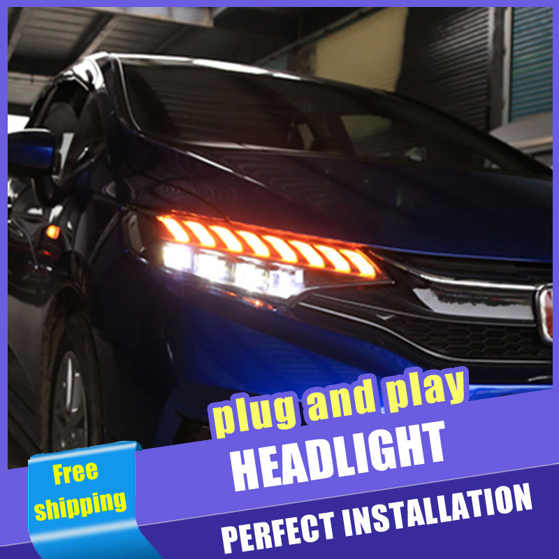2PCS Car Style all LED headlights for Honda fit 13 18 for fit head lamp all