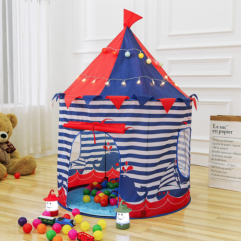 Princess Prince Play Tent Portable Foldable Folding Tent Children Boy Castle Play House Kids Outdoor Toy Tent