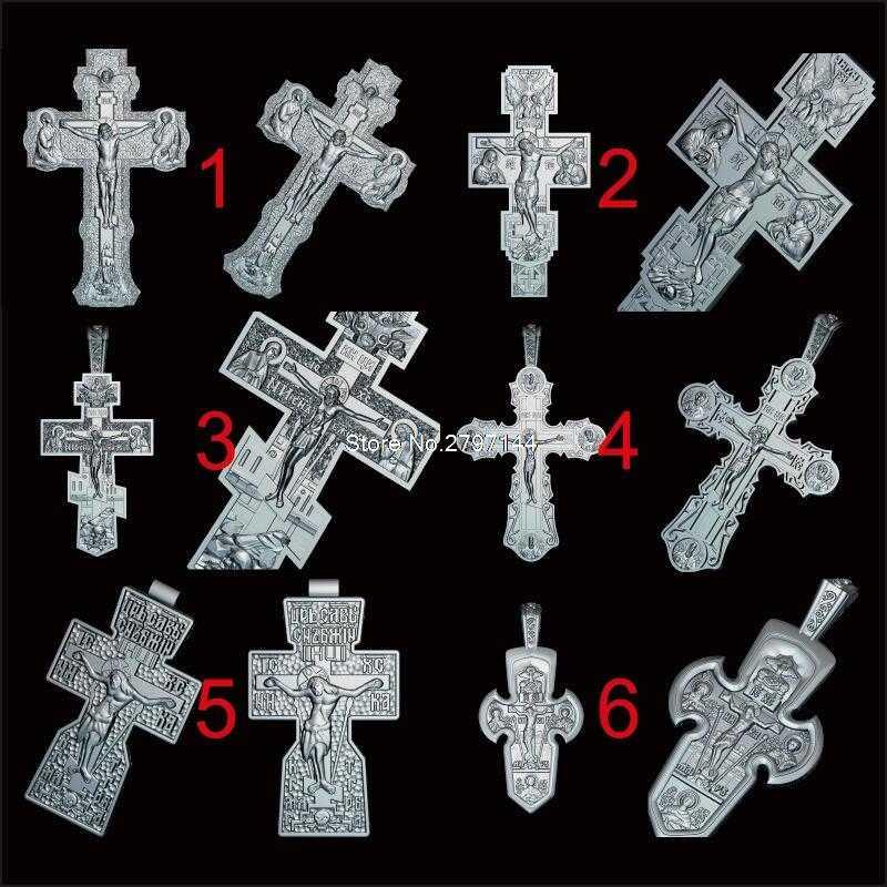 Lote de 12 Uds. De figuras talladas de Jesús Cross, modelo 3D STL para máquina cnc, modelo de crucifijo, enrutador, grabador ArtCam