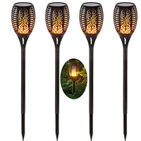 Solar Led Flame lamp fire effect Waterproof Led Bulb Flickering Outdoor Landscape Decor For Garden Lawn courtyard Lighting