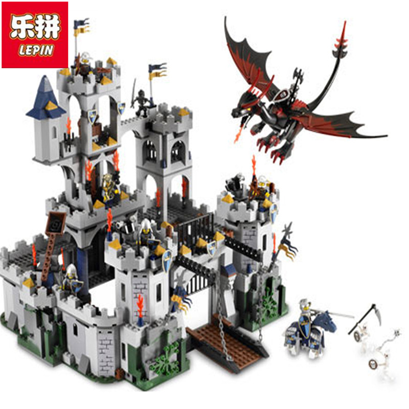 Lepin  16017 Castle Series Genuine The King`s Castle Siege Set Children Building Blocks Bricks Educational Toys Model Gifts lepin genuine 16017 castle series the king s castle siege set children building blocks bricks educational toys model gifts 7094
