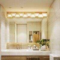 Nordic led mirror light 400 1200mm Hardware+acrylic bathroom lamp bedroom cosmestic lighting hotel foyer led bathroom sconce