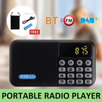 Digital DAB DAB+FM Radio Player Receiver W/ Bluetooth Stereo Speaker PortableOutdoor FM Receiver Music Player for Christmas Gift