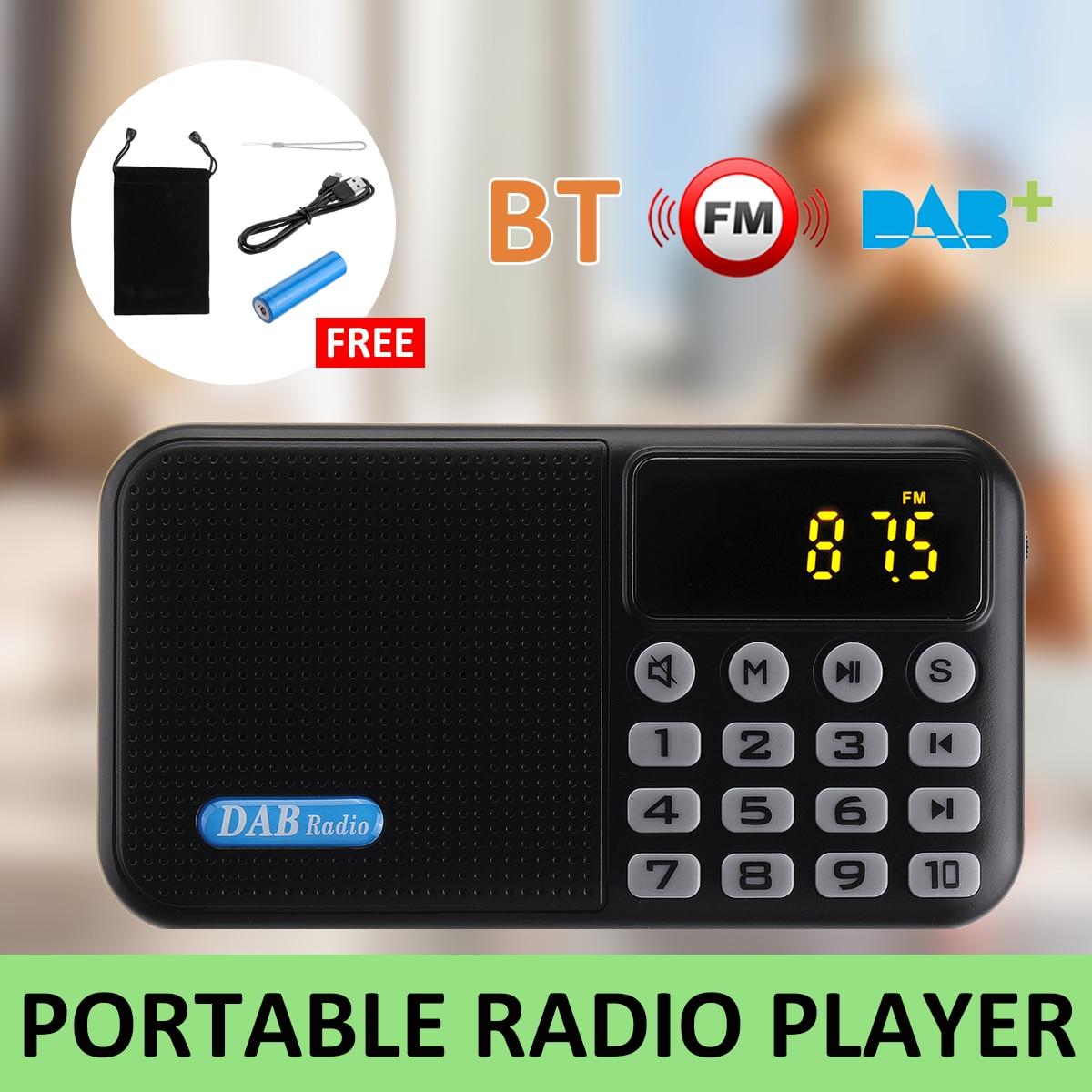 Récepteur de lecteur Radio numérique DAB + FM avec haut-parleur stéréo bluetooth portable récepteur FM extérieur lecteur de musique pour cadeau de noël