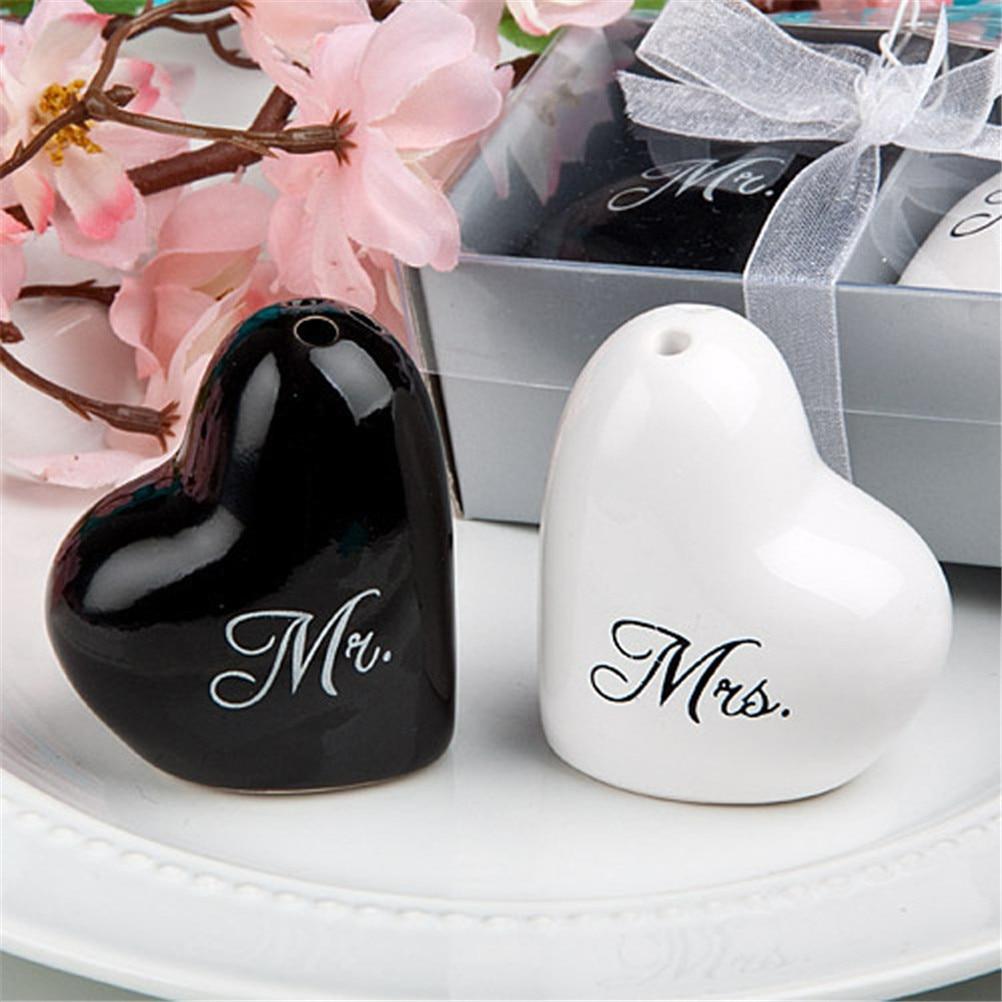 Hochzeitsgeschenk Hochzeit Herz Keramik Mr. und Mrs. Salz ...