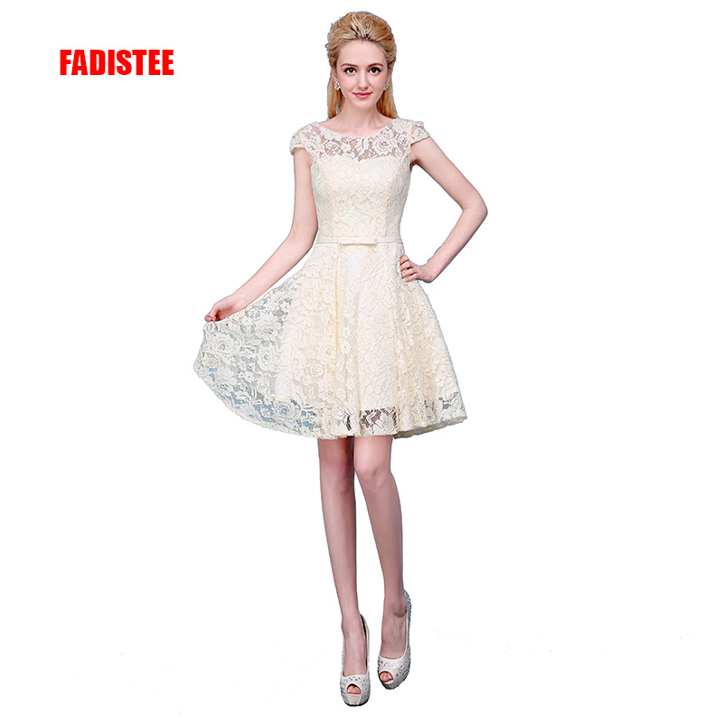 FADISTEE New arrival   prom   party   prom     dress   lace   dress   Vestido de Festa simple short   dresses