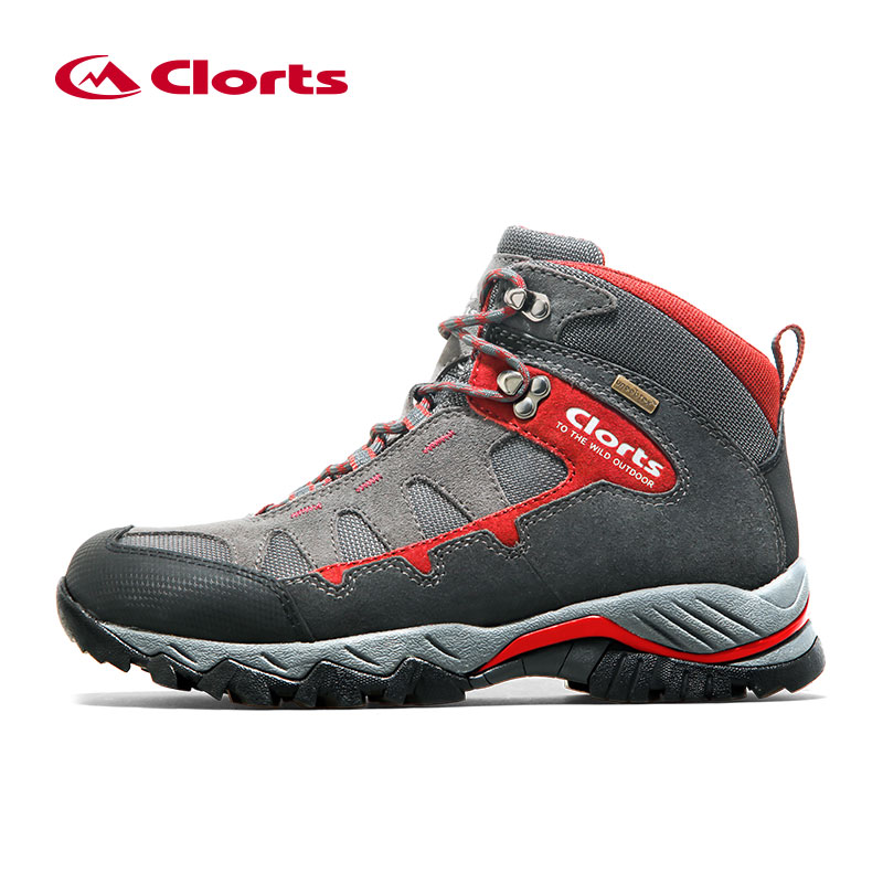 Clorts Men Hiking Boots Waterproof Uneebtex Outdoor Climbing Shoes Suede Breathable Sport Trekking Sneakers HKM-823A/D peak sport men outdoor bas basketball shoes medium cut breathable comfortable revolve tech sneakers athletic training boots