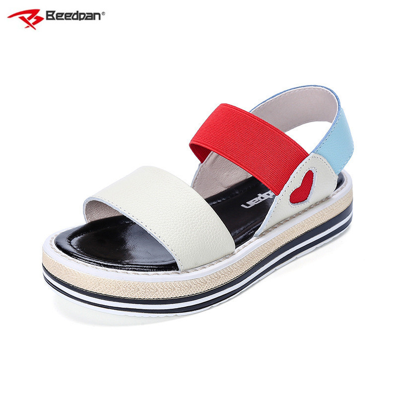 Beedpan Brand 2018 New Girls Sandals Summer Kids Shoes Casual Children Sandals For Girls Open Toe Toddler Girl Leather Sandals centechia flexible portable usb 5v led lamp for power bank comupter notebook mini usb table lights protect eye lights gadget