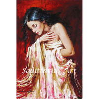 Hand Painted Skilled Art Work Naked Sexy Woman Ballet Dancer Body Nude Oil Painting On Canvas