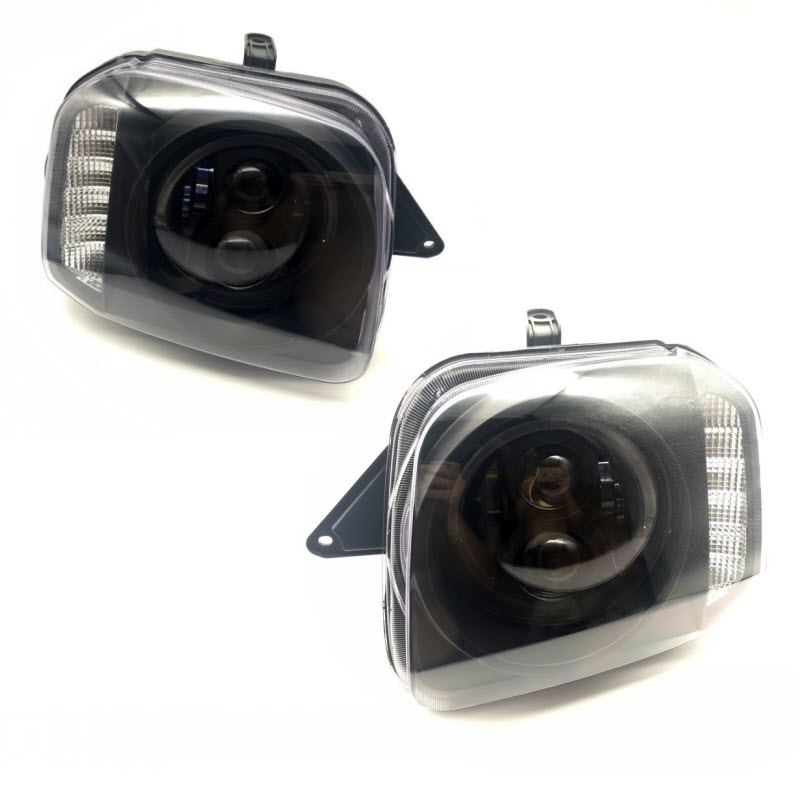 Car Styling Led Headlights for Suzuki Jimny JB43 Off-Road Low / High Car Lights Angel Eyes Signal Lights with Lens for suzuki jimny fj closed off road vehicle 1998 2013 10w high power high brightness led set lights lens fog lamps