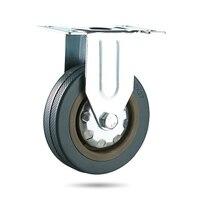 4Pcs A Set Of Heavy Duty 125x27mm Rubber Swivel Castor Wheels Trolley Caster Brake 100KG Replacement