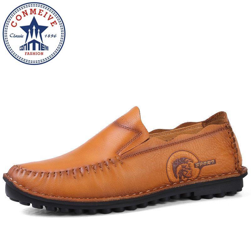Handmade Genuine Leather Men's Flats Casual Luxury Brand Men Loafers Comfortable Soft Driving Shoes Slip on Moccasins handmade genuine leather men s flats casual haap sun brand men loafers comfortable soft driving shoes slip on leather moccasins
