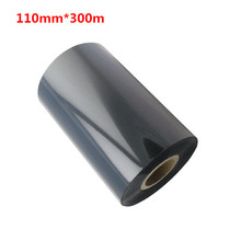 110mm*300m Strengthened Wax Ribbon 110300 Black Ink Barcode Label Printer Ribbons 110mm X 300m