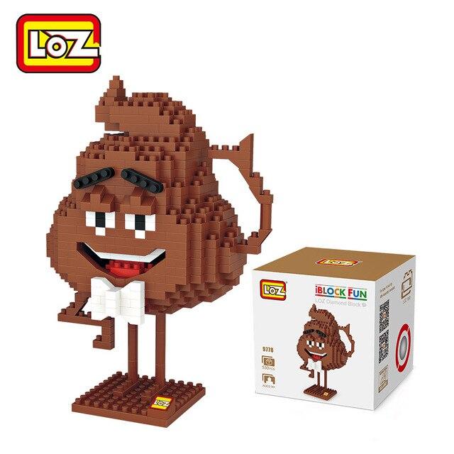 Loz Funny Emoji Poop Blocks Toys Building Bricks Action Figure Kids