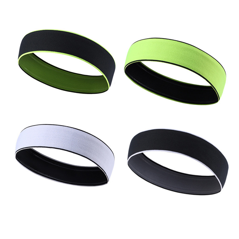 Drop Ship 4 Colors New Absorbent Sport Sweat Headband Sweatband For Men Yoga Hair Bands Head Sweat Bands Sports Safety new design milk silk material fashion style lady wide yoga hair band sport sweat headband popular hair accessories for women
