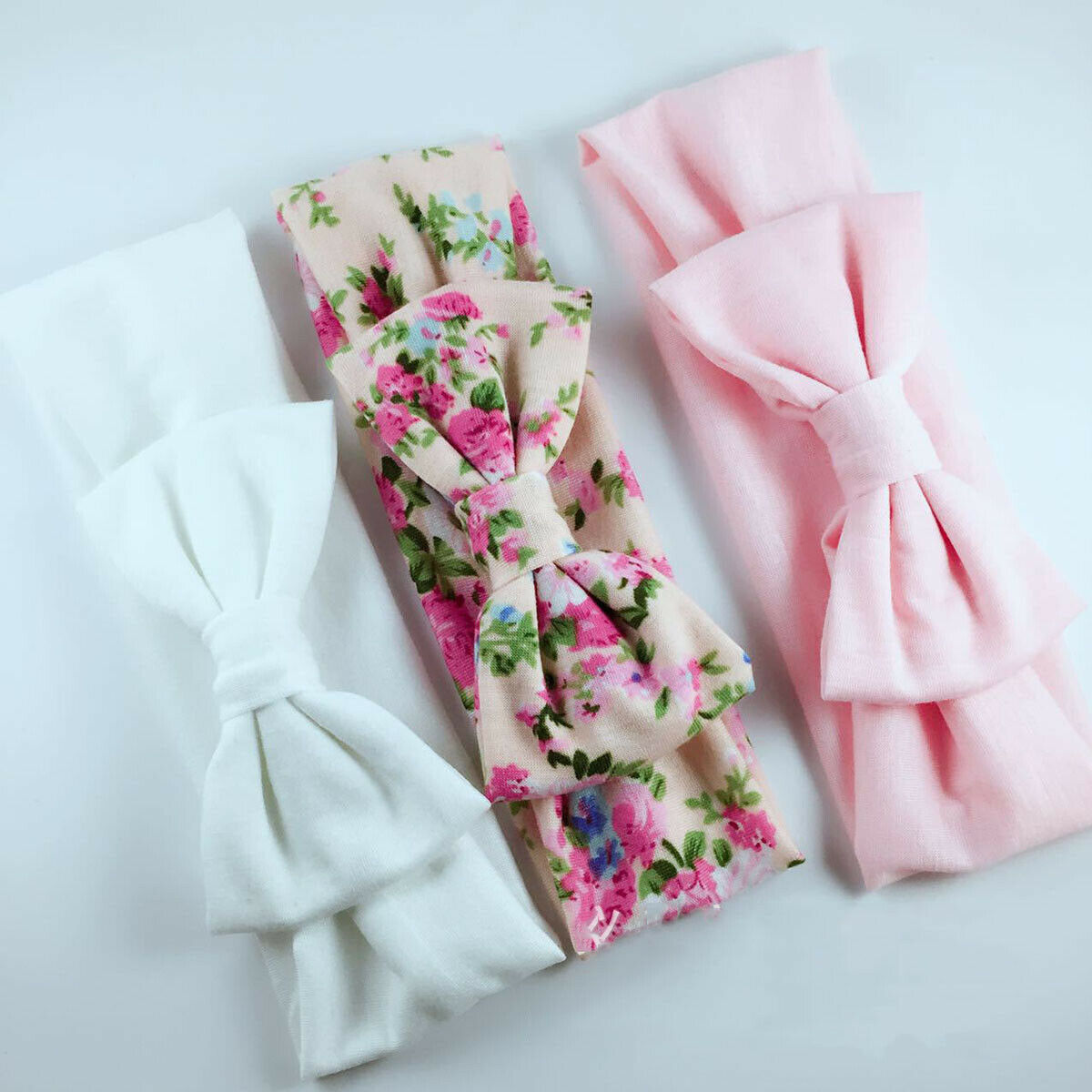 Brand New 3PCS Stretchy Twist Knot Bow Head Wrap Headband Twisted Knotted Cute Hair Band Baby Gifts