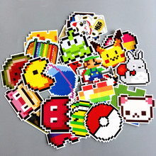 25Pcs/lot DIY Mario Pixel Style Sticker For Car Laptop Luggage Skateboard Backpack Tables Case Decal Kids Toy Funny Sticker