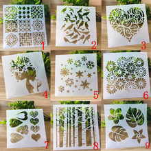 9pc/set Draw Bullet Journal Templates Reusable Plastic Stencils For Diy Scrapbooking Stencil Painting Decoration