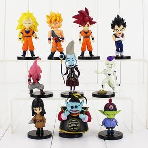 Image 4 - 20 pz/lotto Dragon Ball Z Figura Goku Vegeta Super Saiyan Dio Hercule Freezer Boo Beerus Whi DBZ Mini Modello IN PVC giocattoli Bambole