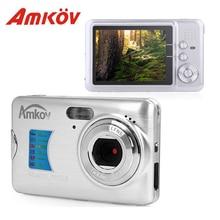Amkov AMK-CDFE 8Mp Профессиональный camere Поддержка Multi-Язык мини Портативный HD 2.7 дюйма Экран Стрельба карманный цифровой Камера