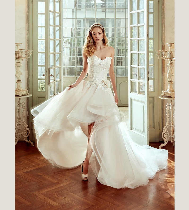 haute couture lovely hi low wedding dress with removeable ballgown skirt beautiful italian bridal design