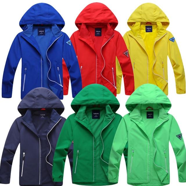 Новый Демисезонный верхняя одежда для детей, Куртки модные спортивные куртки для детей двухслойные Водонепроницаемый ветрозащитный большой Куртки на девочек и мальчиков