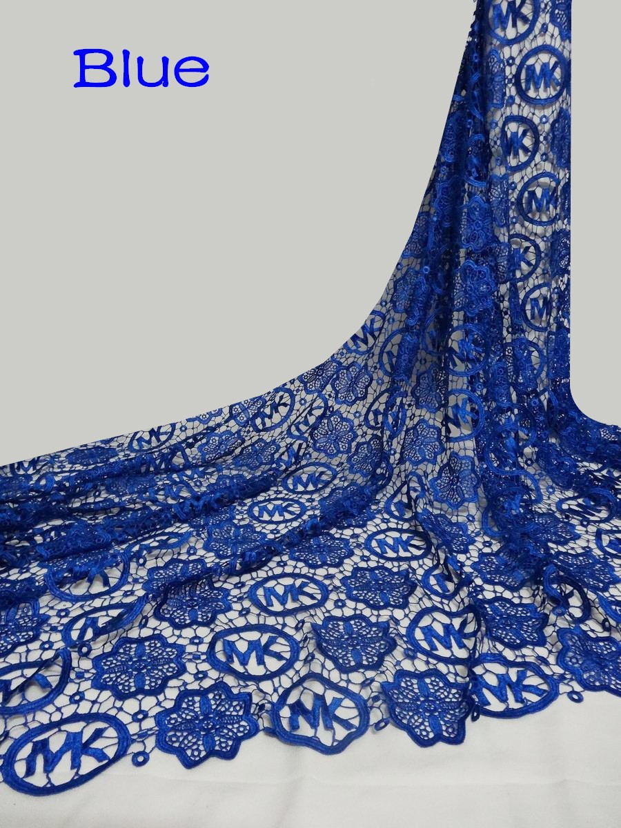 Hot African nigerian guipure swiss voile lace high quality water soluble lace Fabric for Wedding dresses
