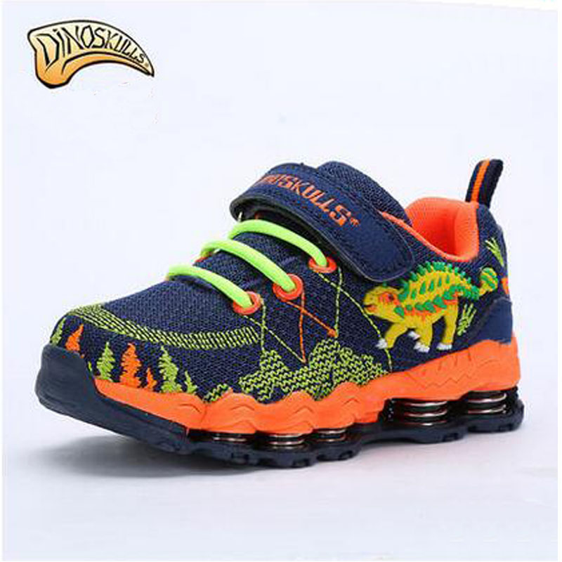 Dinoskulls Spring Autumn Children Casual Shoes Boys Girls Running Shoes Footwear Kids Breathable Sneakers 3D Dinosaur Baby Shoes  children s shoes girls boys casual sports shoes anti slip breathable kids sneakers spring fashion baby tide children shoes