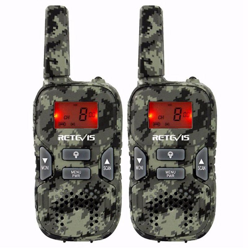 RETEVIS 2pcs RT33 Mini Walkie Talkie For Kids Child Hf Radio 0.5W PMR FRS/GMRS 8/22CH VOX PTT Flashlight LCD Display PMR446 Gi