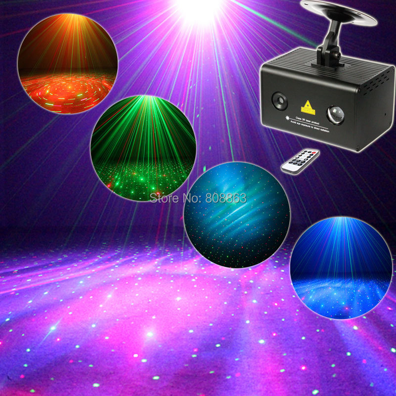 R&G Laser Pattern Projector Remote RGB LED Dream Water Galaxy Full Color Effect DJ Dance Bar Xmas Party Disco Light Show N8B168