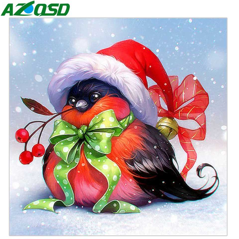 AZQSD Diamond Painting Full Square Animal Christmas Decorations For Home New Embroidery 2019 Set
