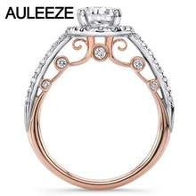U-Pave Moissanites Wedding Sets Fine Jewelry 14K Two Tone Gold Rings Unique Lab Grown Diamond Ring Art Deco Weddings Ring Set