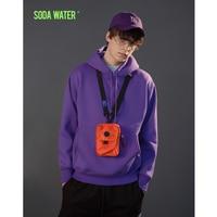 SODA WATER Multicolor Hoodies Men/Women Casual Pullover Streetwear Sweatshirt Harajuku Hip hop Swag Male Hooded 167W17