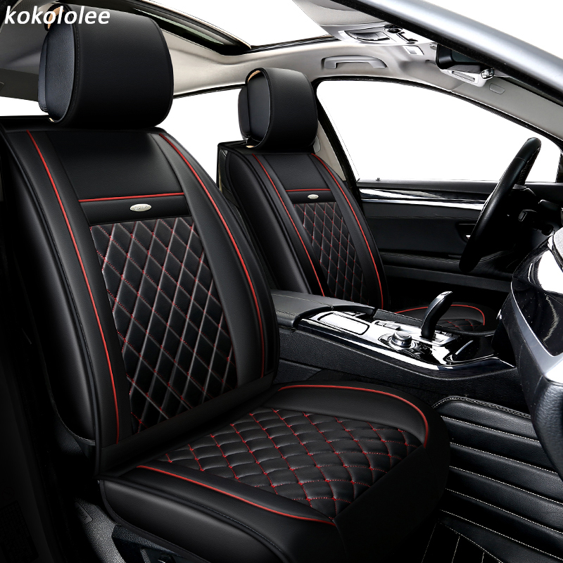 KOKOLOLEE pu car seat cover set For Porsche Panamera Cayenne SUV Car Seats Protector car dtyling Auto Interior Accessories