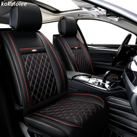 KOKOLOLEE pu conjunto tampa de assento do carro Para Porsche Panamera Cayenne SUV Carro Assentos de carro Protetor dtyling Acessórios Interiores de Automóveis