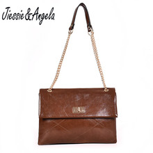 Jiessie&Angela New Women Shoulder Bags Fashion Leather Handbags Big Casual Clutch Bag  Chain Messenger