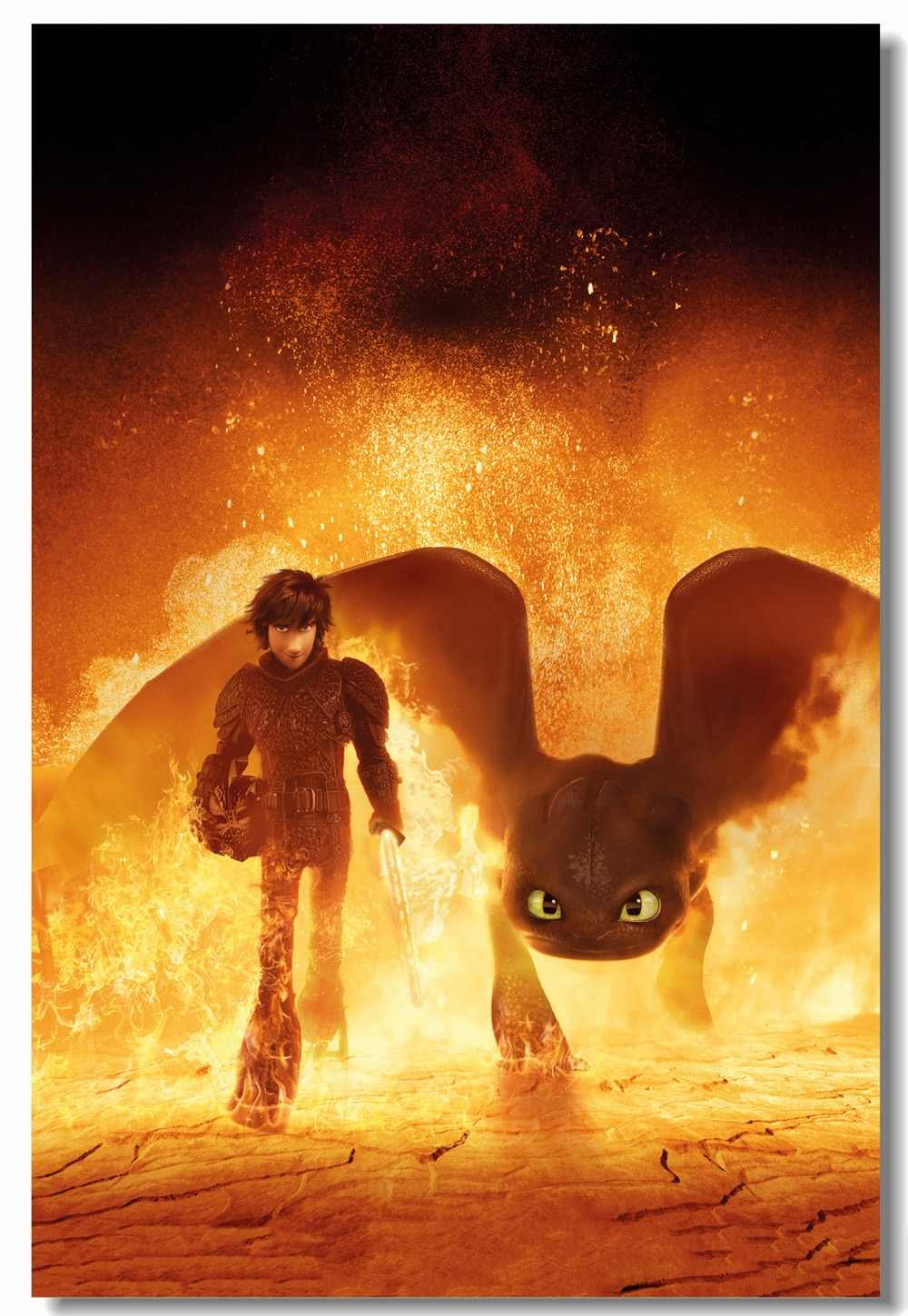 Custom Hiccup Wallpaper Toothless Sticker How To Train Your Dragon Poster Httyd 1 2 3 Wall Stickers Christmas Decoration 979