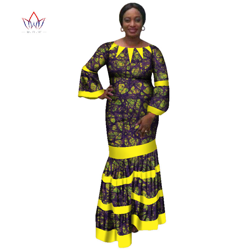 405a2bd6be539 US $59.69 |2019 new african women bazin dress Dashiki african print dresses  for women cotton women o neck clothing 6xl 5xl natural WY3173-in Dresses ...