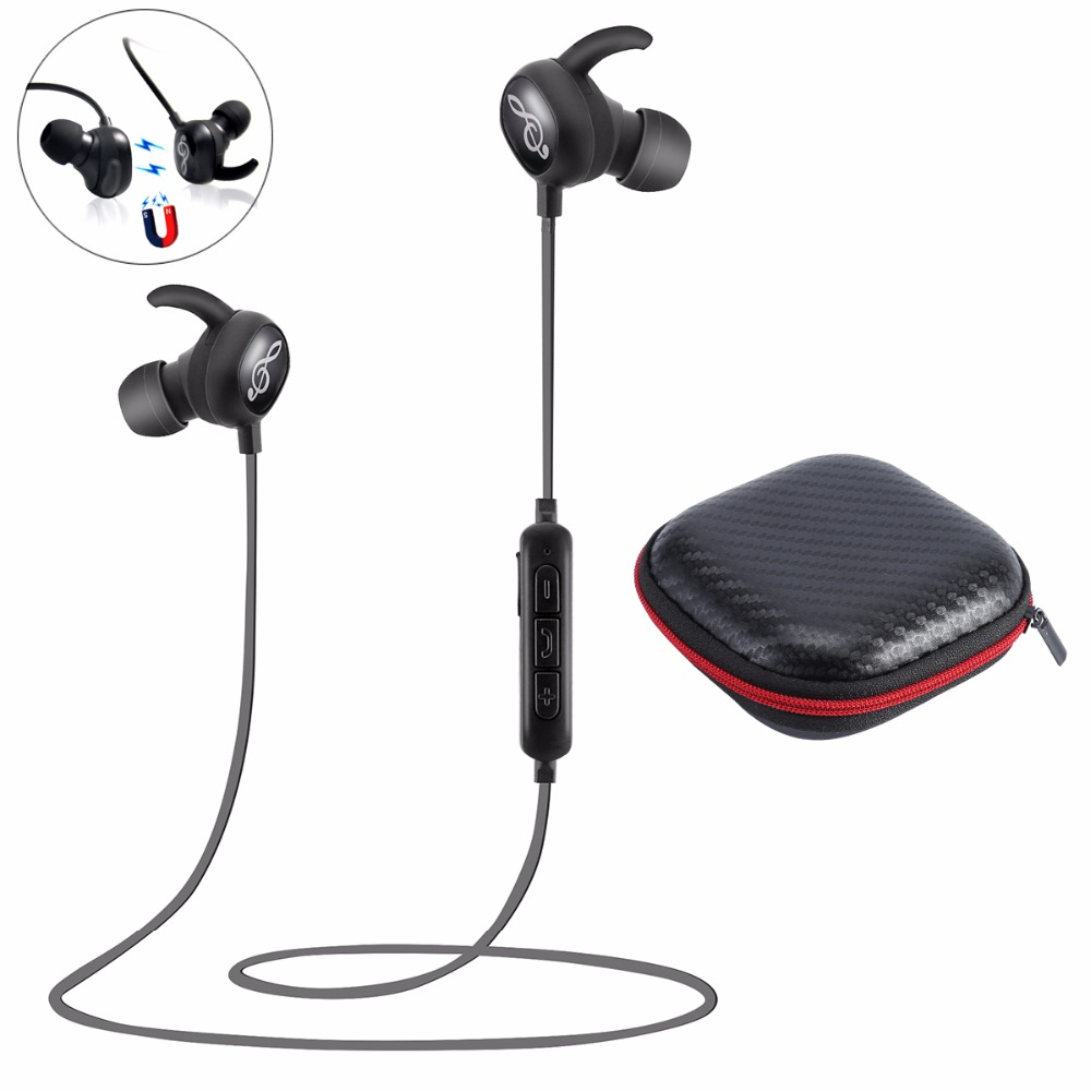 Sport bluetooth headphones earphone with magnetic connection earbuds,S, V4.1 noise cancelling stereo wireless headset with mic powerful crdc sport bluetooth earphone 4 1 headphones magnetic clasp secure fit headset wireless stereo noise reduction with mic