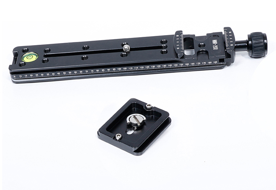 Aluminum CNC 200mm Nodal Slide Rail Quick Release Plate Clamp Adapter for Macro Camera Photo Telephoto