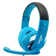 Aibesser de fone de ouvido duplo jack de 3.5mm do fone de ouvido de jogos eletrônicos tradicionais esportes fone de ouvido com microfone giratório universal