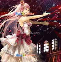 Vocaloid 2 Megurine Luka Gothic White Formal Outfit Cosplay Costume H008
