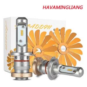 Автомобильная светодиодная лампа для фары ZES 100 Вт 12000LM H4 Светодиодная лампа H1 H7 H8 H9 H11 9005 HB3 9006 HB4 12V 6000K противотуманная фара Автомобильная Раб...