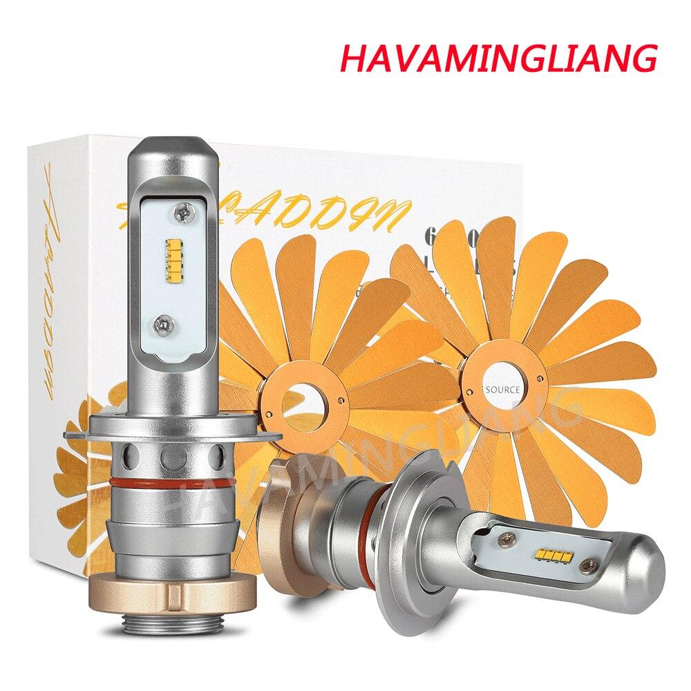 Car Led Headlight Bulb ZES 100W 12000LM H4 Led Bulb H1 H7 H8 H9 H11 9005 HB3 9006 HB4 12V 6000K Fog Lamp Automobiles work light
