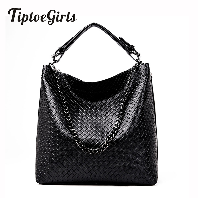 Woven Bucket Handbag Europe And The United States New Fashion Wild Casual Temperament Shoulder Messenger Messenger Tide